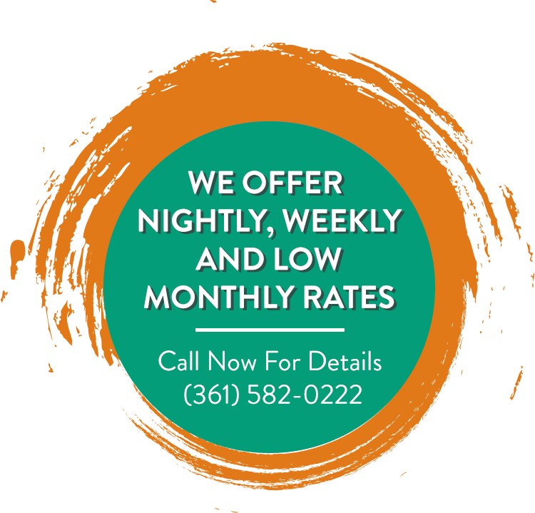 Nightly, Weekly, and Low Monthly Rates.